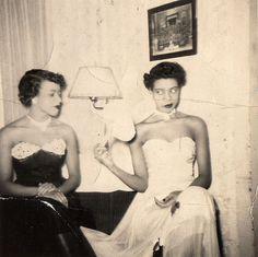 Two Beautiful Ladies Waiting