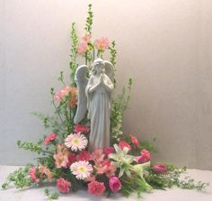 unique funeral flowers | Sympathy Funeral Flowers - Angel Arrangement by Toledo Roses in Ohio ...