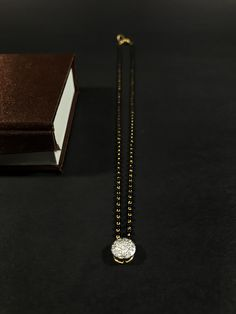 Our rose gold jewelry passion is never-ending, which certainly blush-toned revise is ideal for presenting personal attire that often cute bright purple touch. Diamond Mangalsutra, Gold Mangalsutra Designs, Real Gold Jewelry, Diamond Jewelry, Gold Jewellery, India Jewelry, Diamond Pendant, Jewelry Necklaces, Bracelets