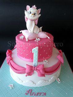 Marie aristocats 1st birthday cake