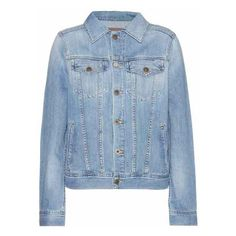 AG Jeans Mya Denim Jacket (1,110 ILS) ❤ liked on Polyvore featuring outerwear, jackets, blue jackets, blue denim jacket, denim jacket, blue jean jacket and ag adriano goldschmied