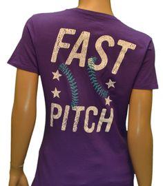 Fast pitch softball shirt