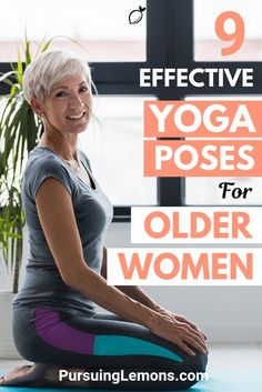Yoga for Older Women: 9 Effective Asanas : Truly Amazing! The benefits of yoga for older women include relieving headaches, joint pain and back pain. Because of this, yoga is getting popular among older adults. Yoga Fitness, Fitness Workout For Women, Senior Fitness, Health Fitness, Health Yoga, Fitness Plan, Man Workout, Yoga Bewegungen, Yoga Flow