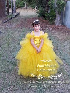Belle Inspired Tutu Dress princess tutu dressyellow princess