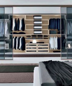 Clean, classy idea for wardrobe storage