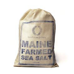 Harvested fresh from the ocean and sun-dried on Bailey Island, Maine. The  mineral rich saline waters of the Gulf of Maine provide our natural sea  salt with a crisp and unique flavor.  1 lb