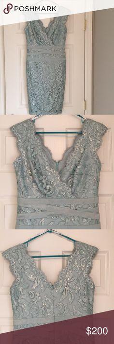 Tadashi Shoji Sheath Dress Absolutely stunning Tadashi Shoji sheath dress. Size 6. Worn once to a wedding and received so many compliments! Tadashi Shoji Dresses
