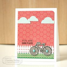 December SOTM You Are Going Places Card by Courtney Kelley #Stampofthemonth, #Encouragement, #Cardmaking, http://tayloredexpressions.com/kits.html