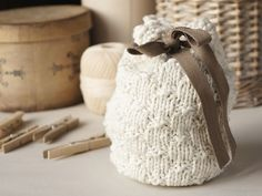 Other – Knitted storage pouch – a unique product by tettidesign on DaWanda