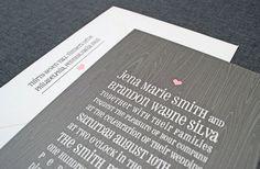 Jena Woodgrain Wedding Invitation  Rustic Gray by CricketPrinting, $5.00