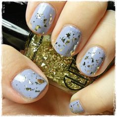 The Lazy Fashionista blog featured the  #AmericanApparel Glitter Nail Polish in Meteor Shower.