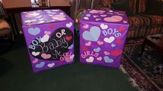 Gender reveal boxes for twins