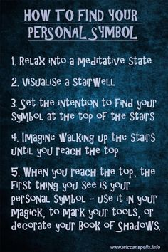 How to find your personal symbol. #witches #Pagan #magick