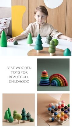 15 Best Wooden Toys for Toddlers by HappyTreeStore. Christmas gift for baby. Rainbow | Pyramid | Forest | Alphabet | Sorting Games. Waldorf and Educational wooden toys is the best gift for toddlers. Our toys are made of environmentally eco-friendly materials for kids of any age #babygift #education