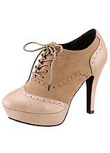 High Heel Lace Up Shoes by Laura Scott