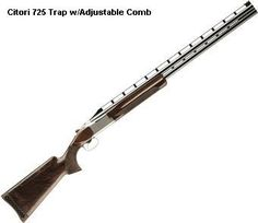 Browning Citori 725 Trap w/Adjustable Comb Over and Under Shotgun -Perfect balance. It is the egonomics of the 725 that really set it apart. And those ergonomics translate directly to and advantage to the trap shooter. Become one with the gun. Browning Citori, Trap Shooting, Sporting Clays, Hunting Guns, Comb Over, Shotguns, Guns And Ammo, Really Cool Stuff, Arms