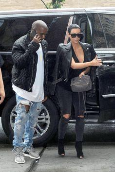 kimkardashianfashionstyle: June 1, 2015 - Kim Kardashian & Kanye West arriving at their apartment in NYC.