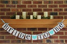 Bride To Be Bridal Shower Banner Decoration Bachelorette Party Wedding Banner Custom Colors. $20.00, via Etsy.