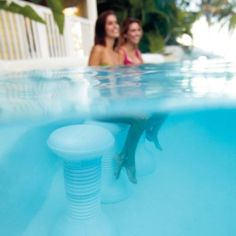 Frontgate Multicolor Light-up Pool Stool