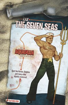 AQUAMAN #43 Written by CULLEN BUNN Art by TREVOR McCARTHY Bombshells Variant cover by ANT LUCIA