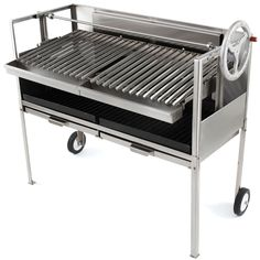 The Gourmands Natural Hardwood Grill - Hammacher Schlemmer