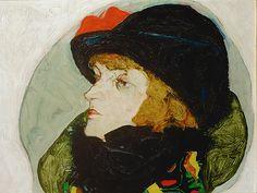 Портрет Иды Розьер. Эгон Шиле. 1912.