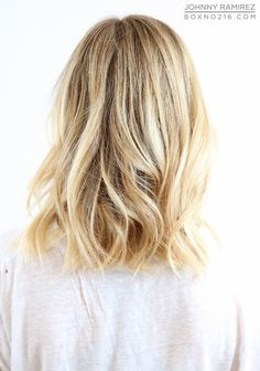 Long bob with loose waves - length in back