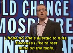 "Frankie Boyle on Mock the Week' ""things that would change the atmosphere at a dinner party"" Frankie Boyle, Mock The Week, Comedy Quotes, British Comedy, Comedy Show, Laugh Out Loud, Funny Shit, Comedians, Movies And Tv Shows"