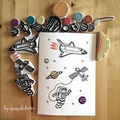 #RubberStamp via : Instagram @mamalaterre [for more rubber stamps ideas @iamlookkaew]