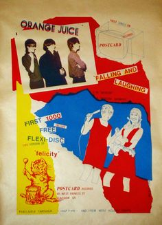 sound of young scotland: Orange Juice: Falling and Laughing, Promotional Poster