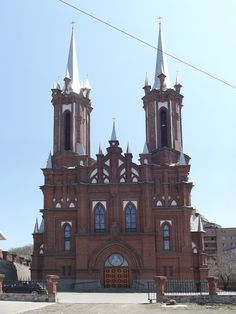 Владивосток, Vladivostok. Blessed Virgin Mary Roman Catholic Church was built in 1909 and consecrated in 1921. In Soviet times, the file was here. Reconstruction of the building with a superstructure of two towers, one of which serves as a bell tower was completed in 2010. Bells sent the Catholics of Gdansk.