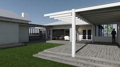 Gull Cottage : Entry via sundeck // Poppy Bevan Architecture & interiors