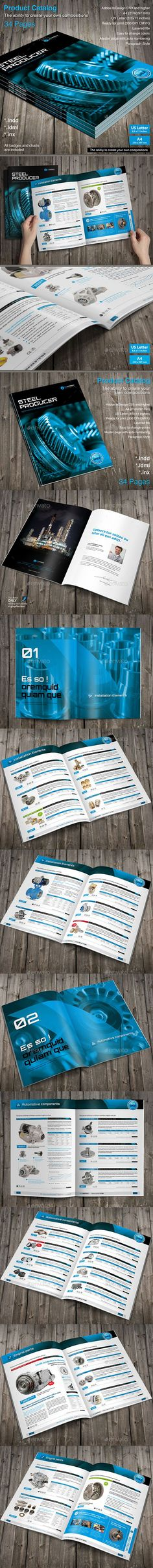 Product Catalog Template InDesign INDD #design Download: http://graphicriver.net/item/product-catalog/14030201?ref=ksioks