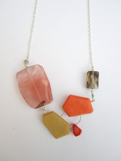 Statement Necklace Genuine Smoky Quartz Coral by BlueEyedSquirrel, $40.00