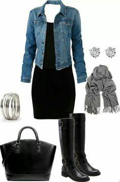 Vestido negro casual