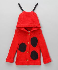 Too cute: we're in love with this funky animal jumper, utterly adorable and lots of fun for your little one! With sweet spots and adorable antennae, this one makes for a ladybird you'll just go dotty for!Button fastening100% organic cottonHand washEach piece is made by hand and signed...