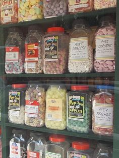 """Remember any of these? Old fashioned sweet shop in Rye High Street, East Sussex, UK. There is always a queue! I love sherbert lemons (photo by me)"""