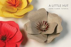 Beautiful paper flower tutorial