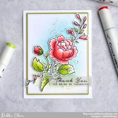 Thank You with Handpicked Bouquet Bouquet Images, Altenew Cards, Distress Oxide Ink, Pretty Cards, Thank You Cards, Thankful, Grateful, Markers, How To Apply