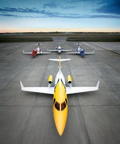 Honda HA-420 HondaJets displayed on the ramp at Piedmont Triad Airport in Greensboro, South Carolina. Long delays have affected this aircraft's certification and entry into service. (Photo: Honda Aircraft Company)