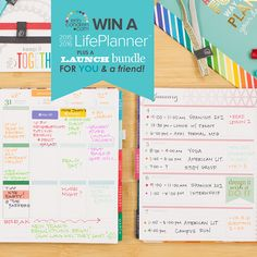 """We want to be YOUR """"thankful thought"""" this week! Enter to win a FREE 18 month 2015/16 #ErinCondren Ready to Ship Classic LifePlanner + Launch Bundle! There will be 10 lucky winners... plus they'll get to pay it forward and choose a friend to win along with them. Enter here: http://woobox.com/xopexf/"""