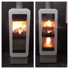 The RAIS Bionic Fire wood burning stove with double combustion chamber and downward burn.