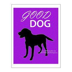 Labrador Retriever Dog Art Print Dog Print by PawsomeArtDesigns, $11.99