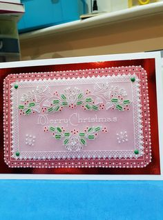 Last of my Christmas cards made now just have to write them all now. Christmas Cards, Xmas, Parchment Cards, Beautiful Christmas, Card Making, Paper Crafts, Card Ideas, Create, How To Make