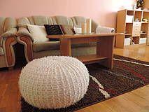 Úžitkový textil - Puf CHLPACIK biely - 4202653_