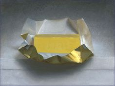 Butter oil on linen, 9 x 12 inches, 2012 collection of the artist