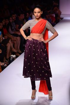 Payal Singhal. The outfit is bizarre. Pinning for the color combo.