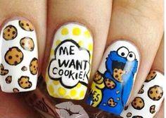 Cookie Monster #cookiemonster #nails @Johanna Hörrmann Hörrmann Hörrmann Melcon lets do it ;-)