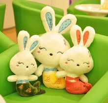 5 Colors Rabbit Soft Plush Bunny Rabbit Toy New Arrival Rabbit Plush with Fish Tail