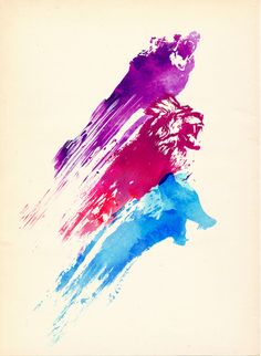 East Urban Home 'Wild Colours' by Robert Farkas Painting Print Size: Art And Illustration, Illustrations, Watercolor Illustration, Abstract Art Images, Painting Prints, Art Prints, Bubble Art, Graphic Design Art, Decoration